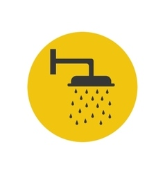 Shower silhouette icon vector