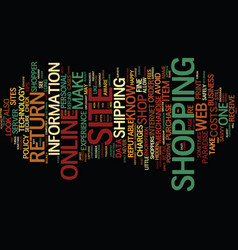 Are you a savvy online shopper text background vector