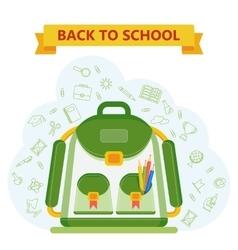 back to school bag vector image