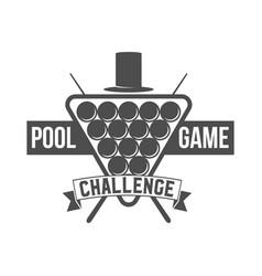 Billiards emblem label and designed elements vector