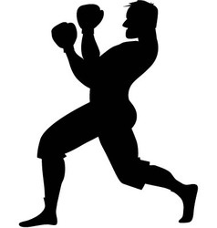 Boxer silhouette vector image vector image