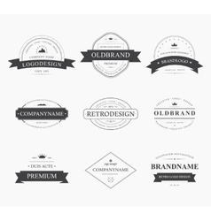 Brand and logo design old tavern badge vector image vector image