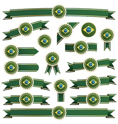 brazil ribbons vector image vector image