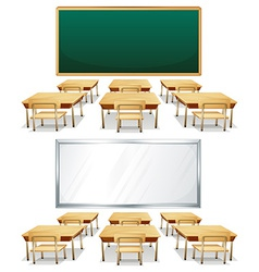 Classrooms vector image vector image