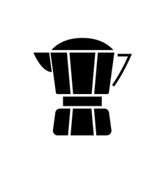 coffee maker icon black sign vector image vector image