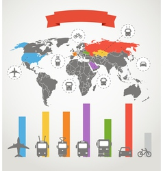 Color infographic transport scheme vector image vector image
