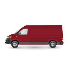 delivery van - layout for presentation - vector image