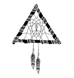dream catcher boho style vector image