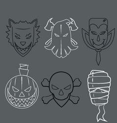 Faces halloween vector