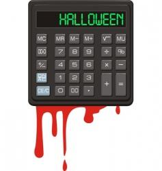 halloween calculator vector image vector image