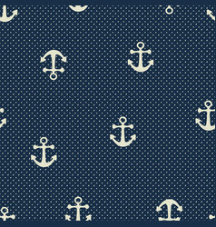 hand drawn anchor seamless pattern vector image