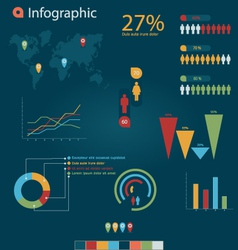 Infographic 4 vector image vector image