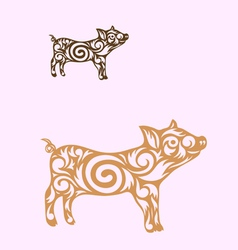 Little pig vector
