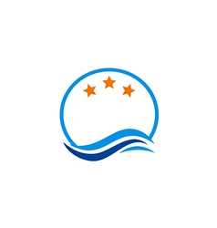 logo water star emblem vector image