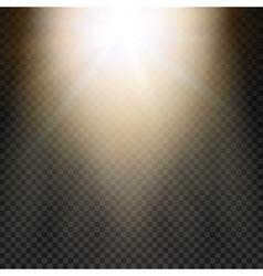 Natural sun Yellow light effect Sun rays sun vector image vector image