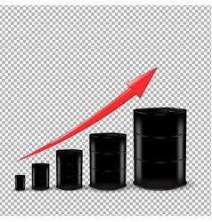 oil barrel set vector image vector image