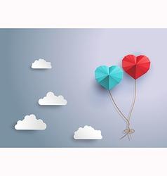 Origami balloon vector image vector image
