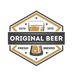 Original beer vintage isolated label vector