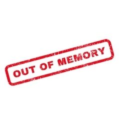 Out Of Memory Rubber Stamp vector image
