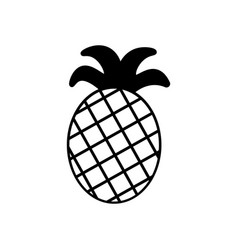 pineapple icon in trendy flat style isolated on vector image vector image