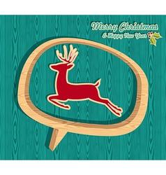 Retro wooden Christmas banner vector image vector image