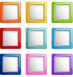 Square buttons vector