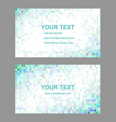 Square tile mosaic business card templates vector