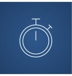 Stopwatch line icon vector