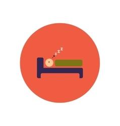 Stylish icon in color circle man sleeps vector