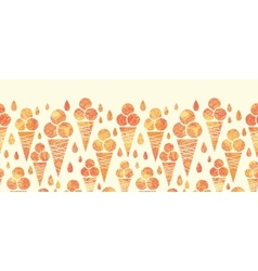 Summer ice cream cones horizontal seamless pattern vector