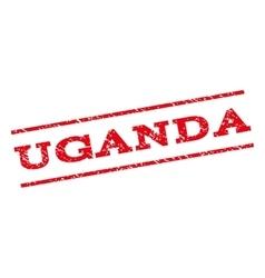 Uganda watermark stamp vector