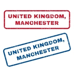 United kingdom manchester rubber stamps vector