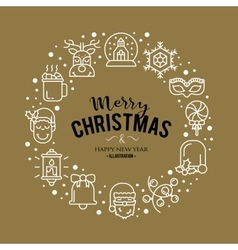 With christmas icons vector