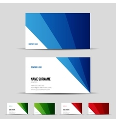 Modern business card template set vector