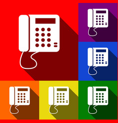 Communication or phone sign  set of icons vector