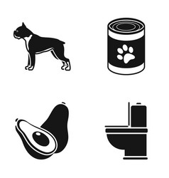 Breed food and or web icon in black style vector