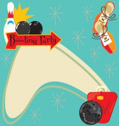 bowling party invitation vector image