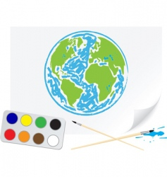 drawing earth vector image
