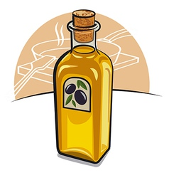 oil bottle vector image