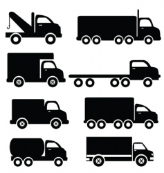 trucks vector image