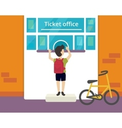 Ticket office vector