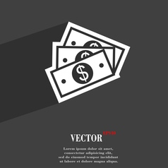 Us dollar icon symbol flat modern web design with vector