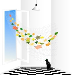 abstract room vector image