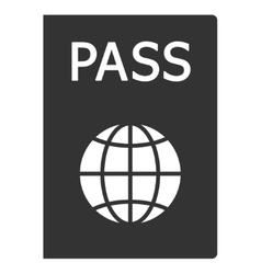 Passport flat icon vector