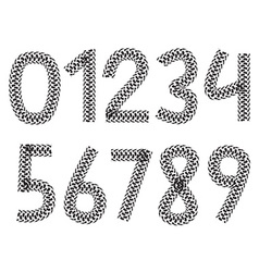 Digits made from motorcycle tire tracks vector
