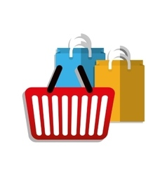 Shopping basket design vector