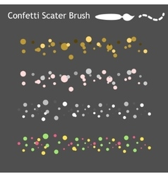 Confetti scatter brushes saved in panel Ready for vector image