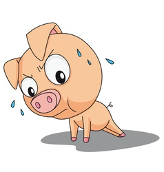 Funny pig vector