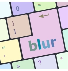 Blur button on computer pc keyboard key vector