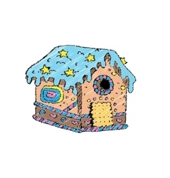 a gingerbread house vector image